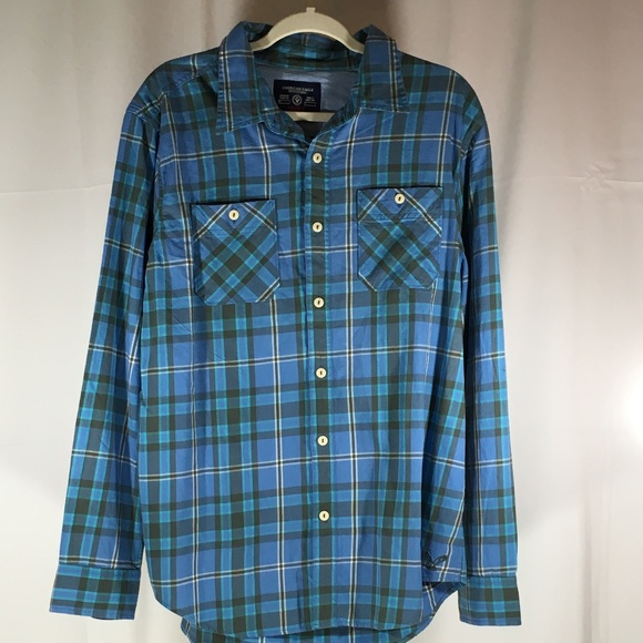 American Eagle Outfitters Other - American Eagle blue flannel athletic fit sz XL